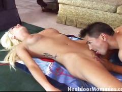 Blonde mom donna fucks young dude