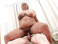 old young, saggy tits, blowjob, big boobs, reverse cowgirl, blonde granny, granny ghetto, fame digital, steve q, evika