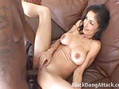 Latina hottie persia pele rides a huge black dong.