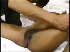 Ebony of my dreams - hairy pussy and big cumshot