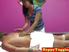 Asian masseuse gives free blowjob after massage