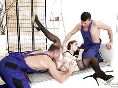 Nanny fucked by horny construction workers @ dp the nanny with me #03