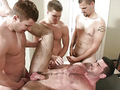 Hot hunks in a foursome fuck