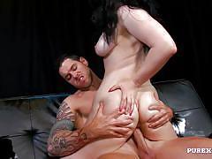 tattoo, big tits, babe, bikini, deepthroat, cumshot, masturbation, blowjob, pussy licking, fingering, brunette, big dick, pure xxx films, lucia love