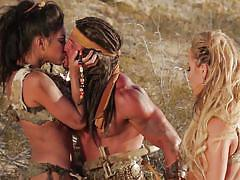 blonde, threesome, outdoor, blowjob, brunette, reverse cowgirl, busty babes, sand, wicked pictures, adrianna luna, cameron dee