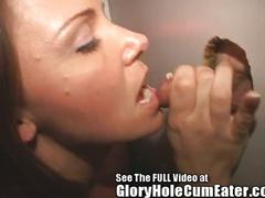Wild sperm swallowing slut at the glory hole