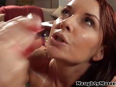 Oily milf janet mason drilled by her masseur