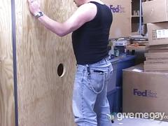 Glory hole cock sucking daddy