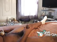 Temping monster black cock jerked