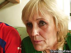 blonde, threesome, handjob, skinny, blowjob, grandma, two cocks, grandma friends, zdenka xx