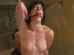 Bdsm tied to bed by master for her fetish session