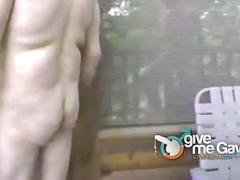 Cock sucking dads by the fireplace