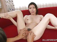 Busty nippon babe fingered & licked