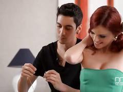 Sexy redheaded spanish girl fucked hard