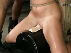 Christina carter tied up riding sybian