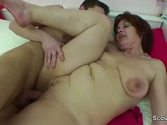 German mom get fucked by young boy