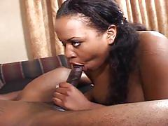 Horny black slut gets rammed hard