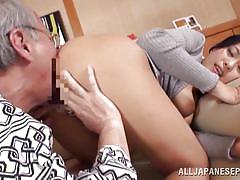 Asian slut and my grandpa