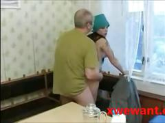 Hot 19 y teen screwing old man!
