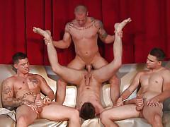 tattoo, anal, orgy, deepthroat, cumshot, muscled, gay handjob, gay blowjob, gay, gay group sex, jizz orgy, men, duncan black, jimmy johnson, cameron knight, sebastian young