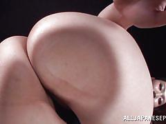 Busty asian taunts us