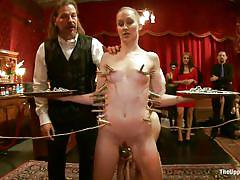 bdsm, lesbians, humiliation, vibrator, pussy licking, babes, tit torture, clothespins, the upper floor, kink, bonnie day, owen gray, cherie deville