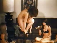 Five vintage nudist babes playing around