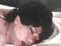 Classic porn scene with short-haired babe