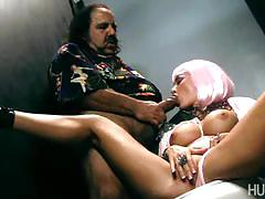 Busty whore gaga serves daddy's cock