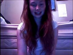 Stunning pale redhead on cam
