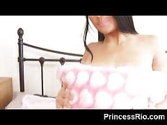Princess rio going topless, squeezing her tits