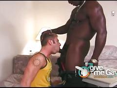 Angry black hunks fucks white boy's tight ass hard