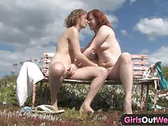 big tits, blonde, busty, babe, lesbian, outdoor, boat, big boobs, amateur, farm, eating pussy, red head, hairy pussy, licking pussy