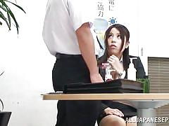 blowjob, pussy licking, office sex, boobs grope, nippon, at work, japanese babe, office sex jp, all japanese pass