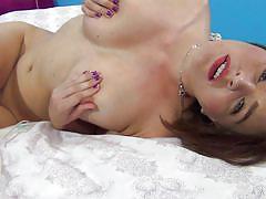masturbation, blowjob, brunette, hairy pussy, squeezing tits, busty babe, titterific, immoral live, travis varjak, krissy lynn