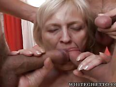 blonde, granny, gang bang, saggy tits, blowjob, group sex, granny ghetto, fame digital, adriana g