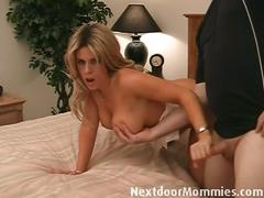 Milf in nurse uniform gets cunt and titty fucked