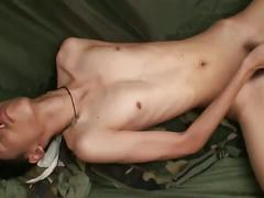 Jacop wanks his yummy asian cock
