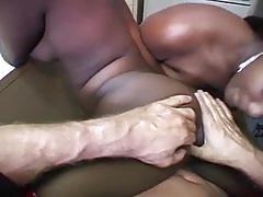big dick, blowjob, cumshot, ebony, threesome, cum swap, ffm, gagging, deepthroat, big cock