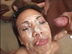 cum, facial, asian, bukkake, lucy, thai, compilation, face, covered, load, massive