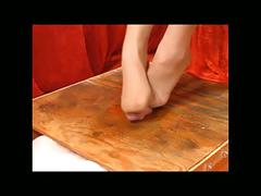 Table footjob 6