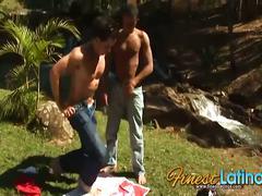 Latino barebackers in the wilds
