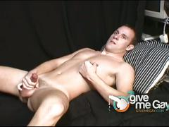 Gorgeous young boy jerks his hard cock