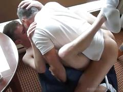 Naughty twink fucked by hot daddy