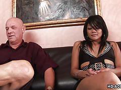 Tiny philipina pussy fucked by a big bald guy