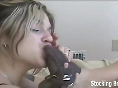 brunette, blonde, lesbian, stockings, black hair, foot fetish