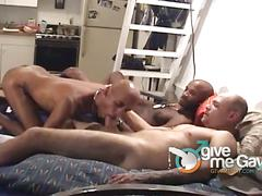 Black thugs gets fucked by white and black cocks.
