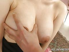 Elegant nippon lady with big boobs