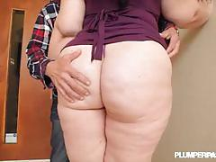 Beautiful bbw becki butterfly rides a hard cock