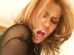 Rough sex with the slut in fishnet